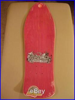 Santa Cruz Jason Jessee NEPTUNE 2 Skateboard PINK STAIN withYELLOW Serpent 2009