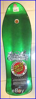 Santa Cruz Jason Jessee Neptune II Skateboard Reissue Deck in Metallic Green