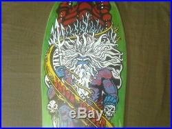 Santa Cruz Jason Jessee Neptune Reissue Skateboard Deck Rare Green