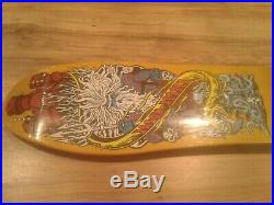 Santa Cruz Jason Jessee Neptune Reissue Skateboard Deck Yellow New in shrink