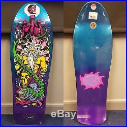 Santa Cruz Jason Jessee Neptune skateboard deck, reissue, candy purple blue fade