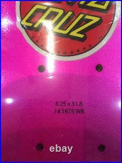 Santa Cruz Jason Jessee Pink Glitter Skateboard Deck 8.25 x 31.8 inch