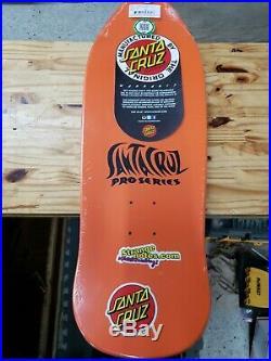 Santa Cruz Jason Jessee Sun God Orange Reissue 9.9 Skateboard Deck