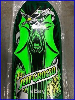 Santa Cruz Jeff Grosso DEMON Reissue Skateboard Deck GREEN Out Of Shrink