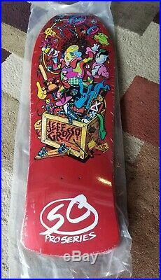 Santa Cruz Jeff Grosso Toybox Candy Orange Skateboard