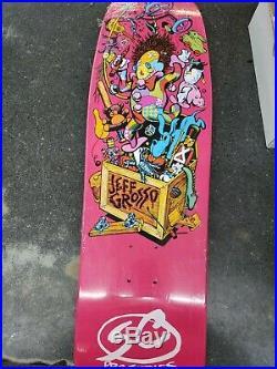 Santa Cruz Jeff Grosso Toybox Pink Reissue Special Edition 9.5 Skateboard Deck