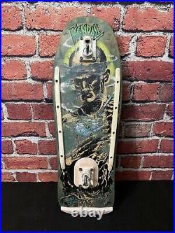 Santa Cruz Jeff Kendall Vintage Atomic Man Skateboard Deck 1980s Tracker Trucks