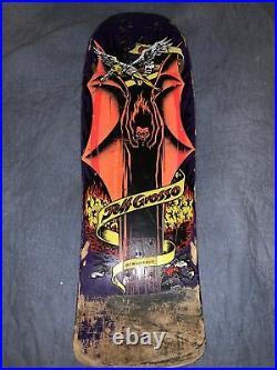 Santa Cruz Jeff grosso Demon Skateboard reissue deck Thirty F Years Used