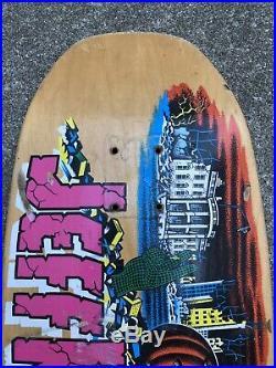 Santa Cruz Jeff kendall Pumpkin skateboard Old School Early Reissue Deck