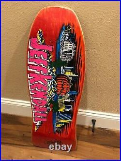 Santa Cruz Jeff kendall Pumpkin skateboard Old School Early Reissue Deck Rare