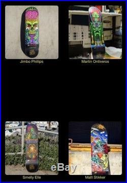 Santa Cruz Mars Attacks Mystery Bag 8.25 x 31.8 Skateboard Deck And GripTape