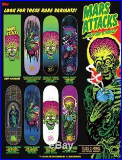 Santa Cruz / Mars Attacks Mystery Blind Bag Skateboard Deck Pre-Order GPK