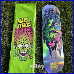 Santa Cruz Mars Attacks Skateboard Deck #1 Blacklight Reaper