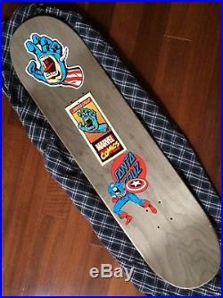 Santa Cruz Marvel Captain America Hand Skateboard Deck (8.26 x 31.7)
