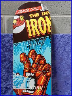 Santa Cruz Marvel Comics Iron Man Skateboard Deck Loose and Mint