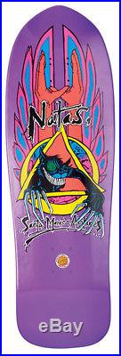 Santa Cruz Natas Evil Cat Purple Metallic Skateboard Deck 10