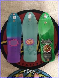 Santa Cruz Neptune Lot Of 3 Skateboard Decks