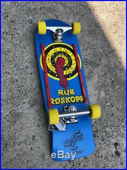 Santa Cruz Old School Rob Roskopp Target 1 Reissue Complete Skateboard