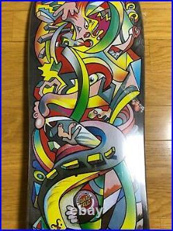 Santa Cruz Picasso Brack Hosoi Collaboration Shapede Skateboard Deck 9.8inch