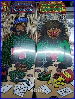 Santa Cruz Poker Dog Skateboard Set of 4 Guzman Shannon Strubing Melvin