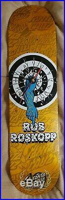 Santa Cruz Rob Roskopp 40th anniversary Skateboard Clock Old School Powell Sims