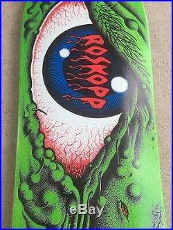 Santa Cruz Rob Roskopp Eye 30 Years Skateboard Deck Green Reissue NOS 2003