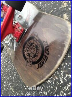 Santa Cruz Rob Roskopp Eye BLACK COMPLETE Skateboard Deck PRE OWNED