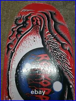 Santa Cruz Rob Roskopp Eye Red Reissue Skateboard Deck