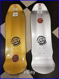 Santa Cruz Rob Roskopp FACE prism and gold foil VANS skateboard deck new target