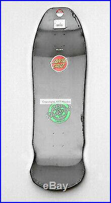 Santa Cruz Rob Roskopp Face Reissue Skateboard Deck Dark Black & Green 9.5 x 31