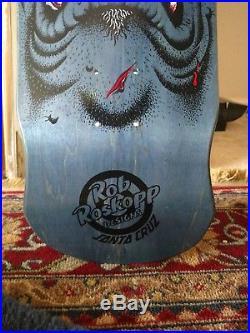 Santa Cruz Rob Roskopp Face Skateboard Deck dark blue stain