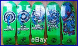 Santa Cruz Rob Roskopp Reissue Skateboard Deck complete target series I-V green