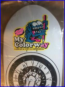 Santa Cruz Rob Roskopp Target 1 Reissue My Colorway Skateboard Deck DIY Coloring