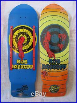 Santa Cruz Rob Roskopp Target 1 and 2 Skateboard Deck Set vintage