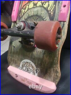 Santa Cruz Rob Roskopp Tracker Trucks bullet speed wheels face skateboard rare