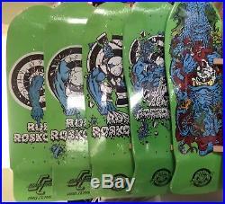 Santa Cruz Rob Roskopp skateboard Deck Complete Series