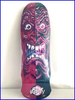 Santa Cruz Roskopp Face Skateboard Deck Rare Split Face, New