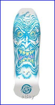 Santa Cruz Roskopp face skateboard deck Rare colorway Matte White, New