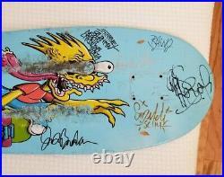 Santa Cruz SIGNED The Simpsons Slasher Bart Skateboard Deck + Tech Deck 500 ep
