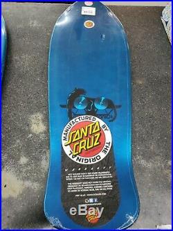 Santa Cruz SMA Natas Kaupas Panther 3 Reissue Skateboard Deck Blue 10.538