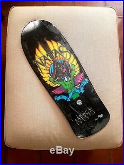 Santa Cruz SMA Natas signed and numered vintage skateboard deck limited edition