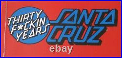 Santa Cruz STREET CREEP 30 Fckin Years LTD Red Reissue Skateboard Deck 2004