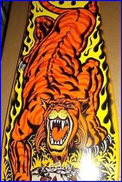 Santa Cruz Salba Tiger Reissue Skateboard Deck Rare