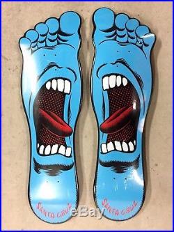 Santa Cruz Screaming Hand FOOT Regular & Goofy Skateboard Decks SEALED RARE