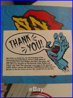 Santa Cruz Screaming Hand Vinyl Figure Vintage Skateboard Only 50 exist