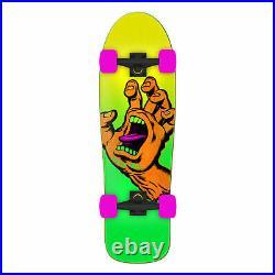 Santa Cruz Skateboard Complete Missing Hand Old School Shape Green 9.7 x 31.7