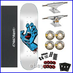 Santa Cruz Skateboard Complete Screaming Hand 8.25 With Independent & Spitfire