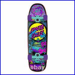 Santa Cruz Skateboard Complete Time Warp Old School Shape Purple 9.51 x 32.26