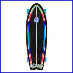 Santa Cruz Skateboard Cruiser Complete Iridescent Dot Shark Black 8.8 x 27.7