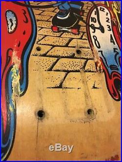 Santa Cruz Skateboard Deck Claus Grabke Clock 1980s Vintage